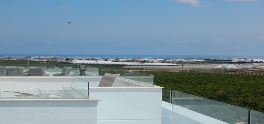 Lovely views - roof solarium from new Lo Romero Villa