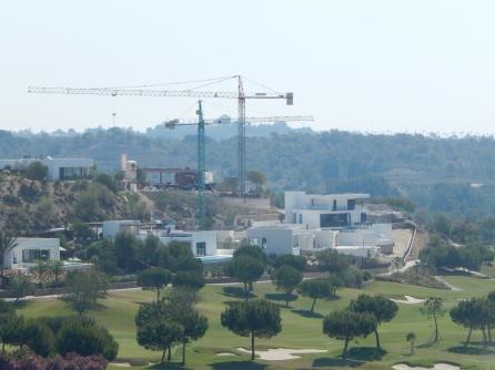 Busy busy busy - new villas at luxury golf resort