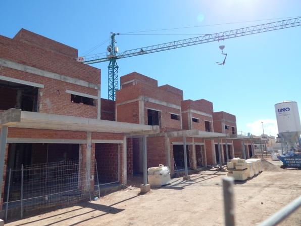 New villas in construction